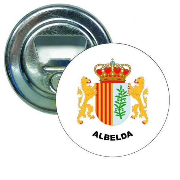 abridor redondo escudo heraldico albelda