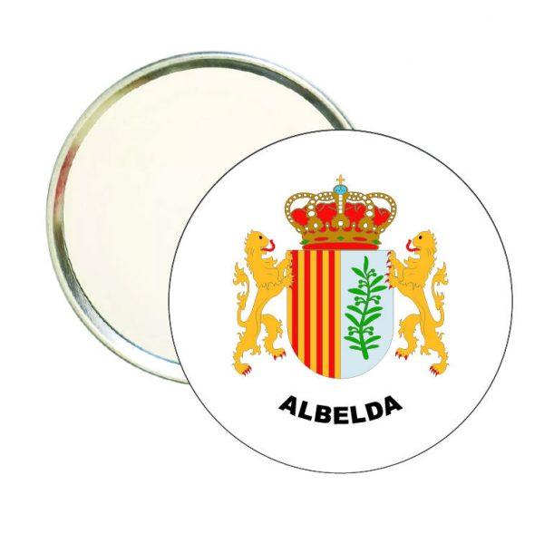 espejo redondo escudo heraldico albelda