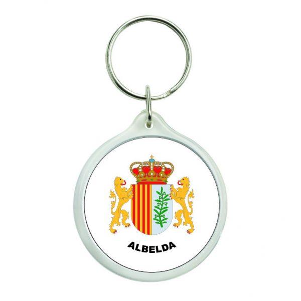 llavero redondo escudo heraldico albelda