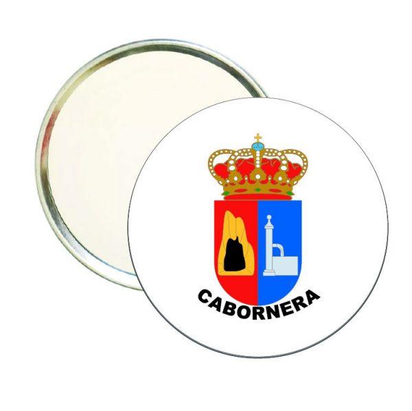 espejo redondo escudo heraldico cabornera