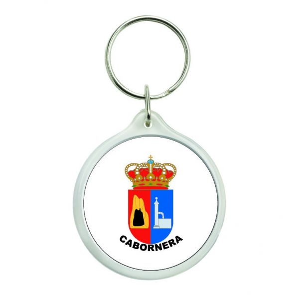 llavero redondo escudo heraldico cabornera