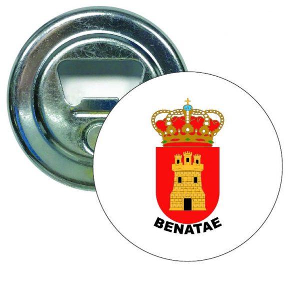 abridor redondo escudo heraldico benatae