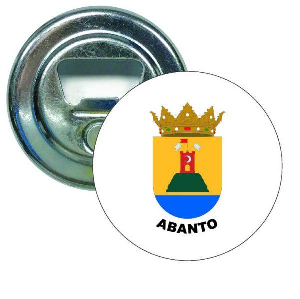 abridor redondo escudo heraldico abanto