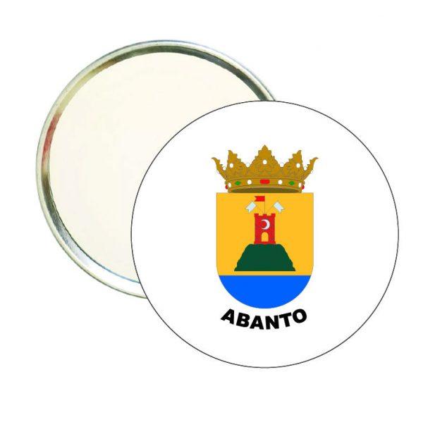 espejo redondo escudo heraldico abanto