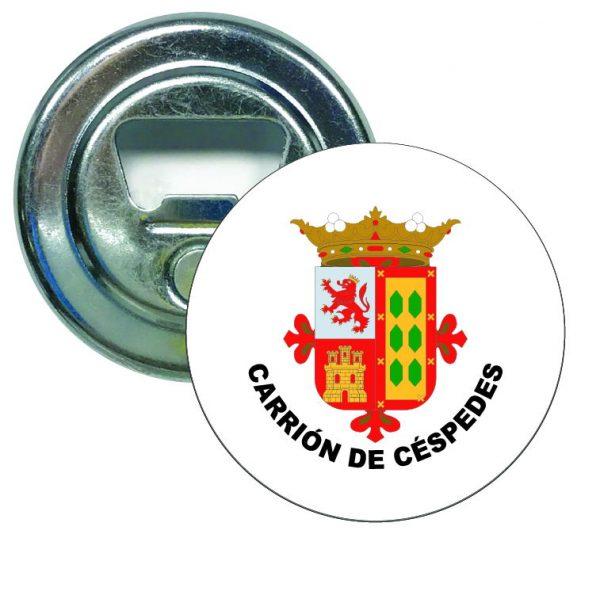 abridor redondo escudo heraldico carrion de cespedes