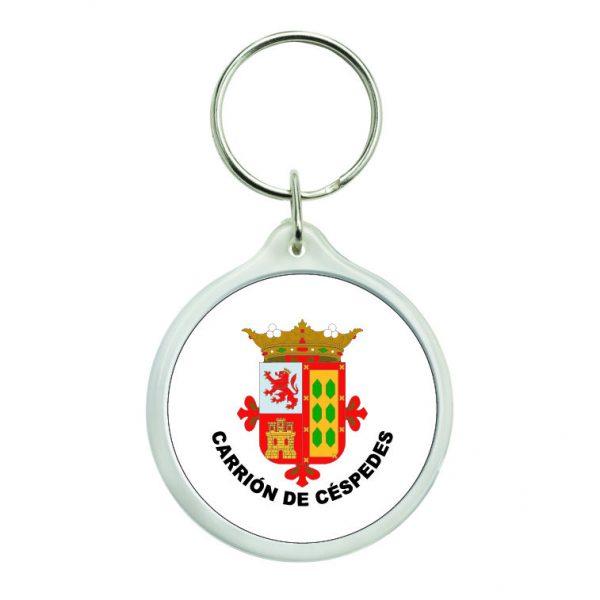 llavero redondo escudo heraldico carrion de cespedes