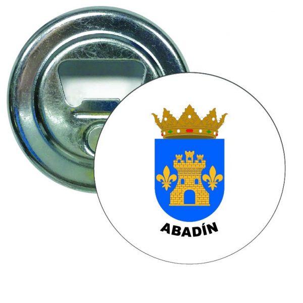abridor redondo escudo heraldico abadin