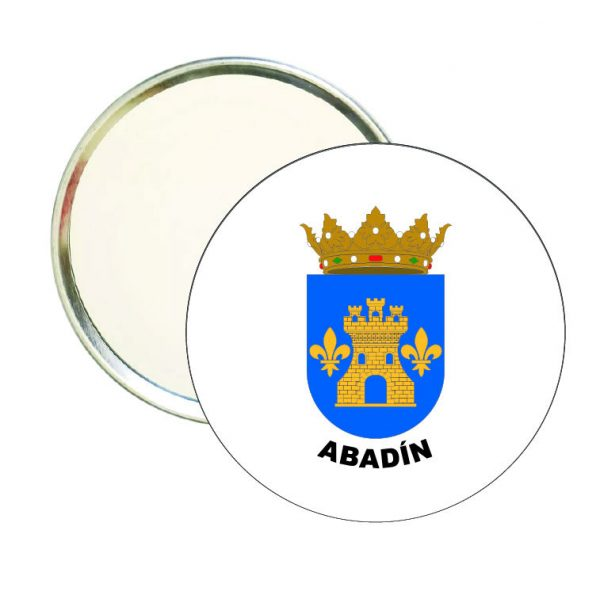espejo redondo escudo heraldico abadin