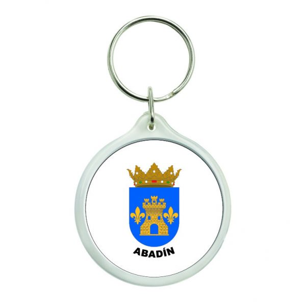 llavero redondo escudo heraldico abadin