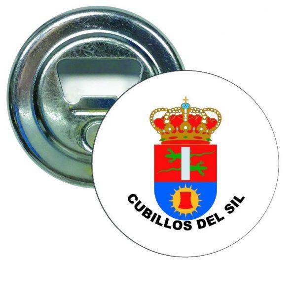 abridor redondo escudo heraldico cubillos del sil