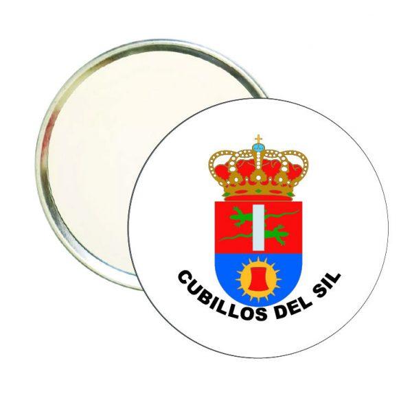 espejo redondo escudo heraldico cubillos del sil