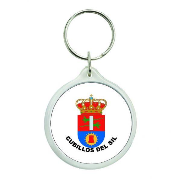 llavero redondo escudo heraldico cubillos del sil