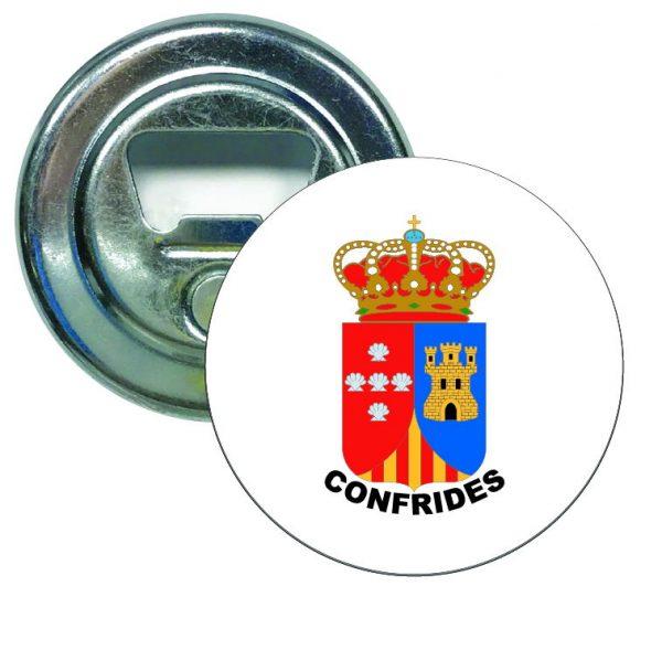 abridor redondo escudo heraldico confrides