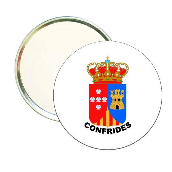 espejo redondo escudo heraldico confrides