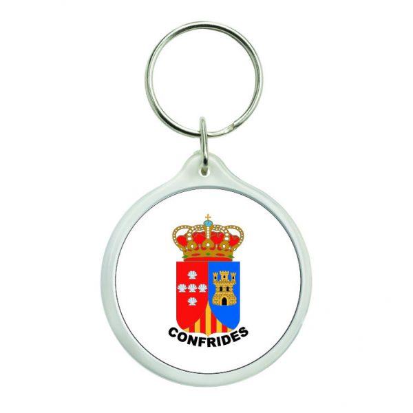 llavero redondo escudo heraldico confrides
