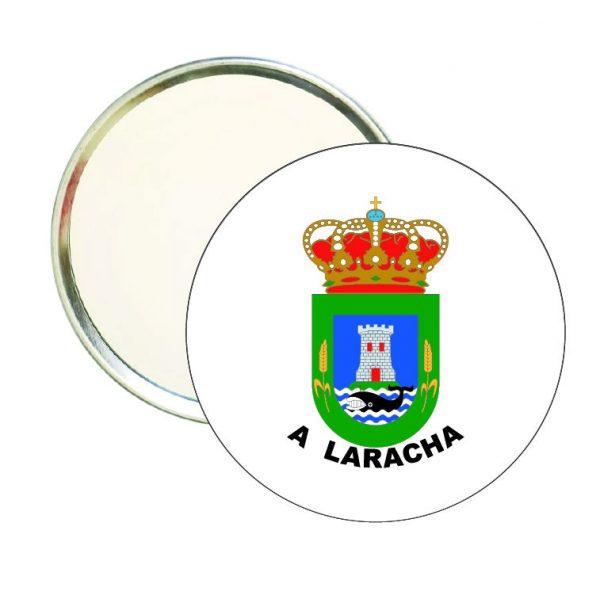 espejo redondo escudo heraldico a laracha