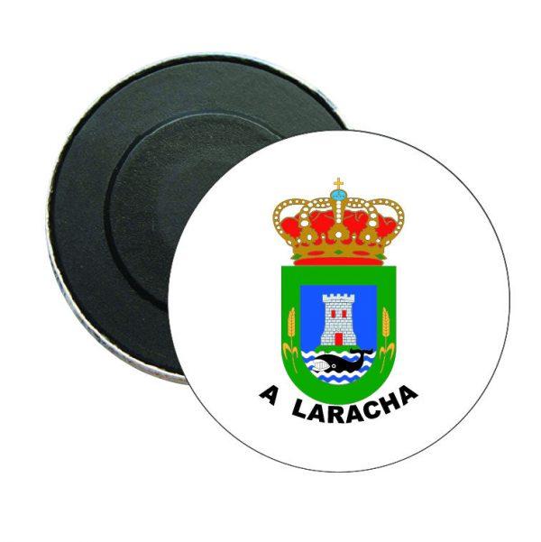 iman redondo escudo heraldico a laracha