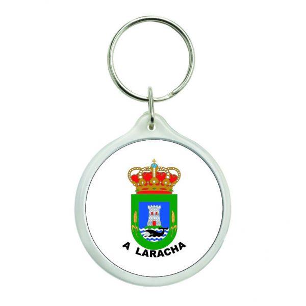 llavero redondo escudo heraldico a laracha