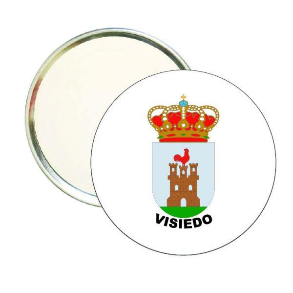 espejo redondo escudo heraldico visiedo