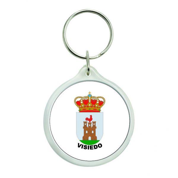 llavero redondo escudo heraldico visiedo