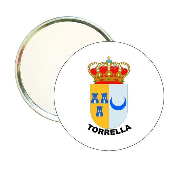 espejo redondo escudo heraldico torrella