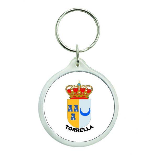 llavero redondo escudo heraldico torrella