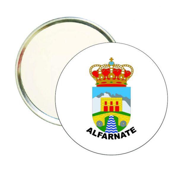 espejo redondo escudo heraldico alfarnate