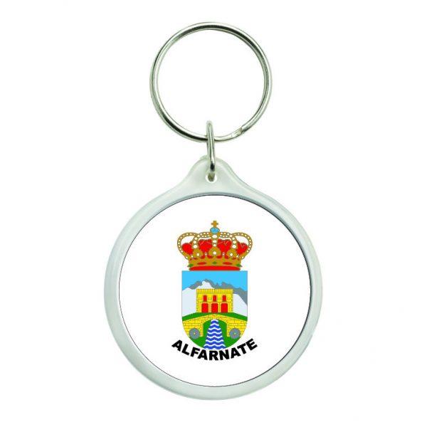 llavero redondo escudo heraldico alfarnate
