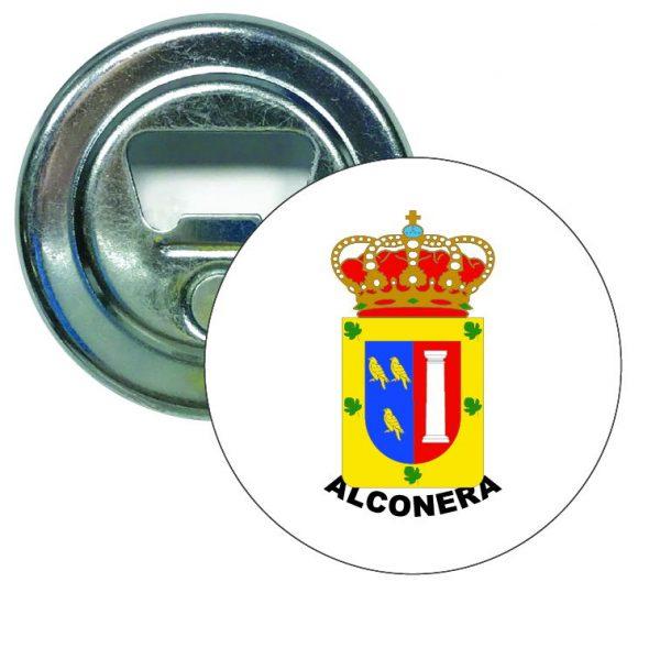 abridor redondo escudo heraldico alconera