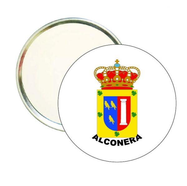 espejo redondo escudo heraldico alconera