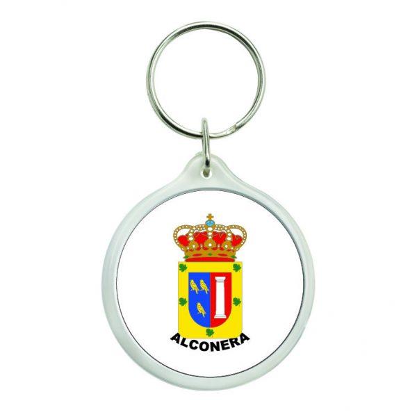 llavero redondo escudo heraldico alconera