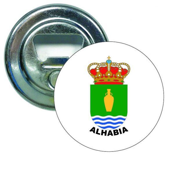 abridor redondo escudo heraldico alhabia