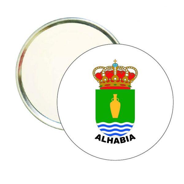 espejo redondo escudo heraldico alhabia