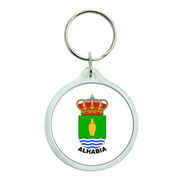 llavero redondo escudo heraldico alhabia