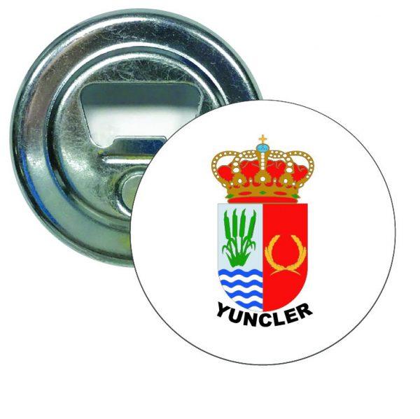 abridor redondo escudo heraldico yuncler