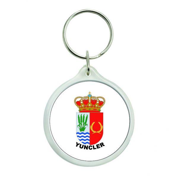 llavero redondo escudo heraldico yuncler