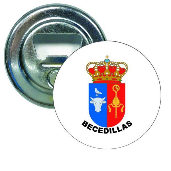 abridor redondo escudo heraldico becedillas