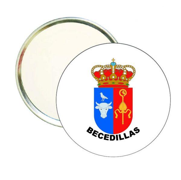 espejo redondo escudo heraldico becedillas