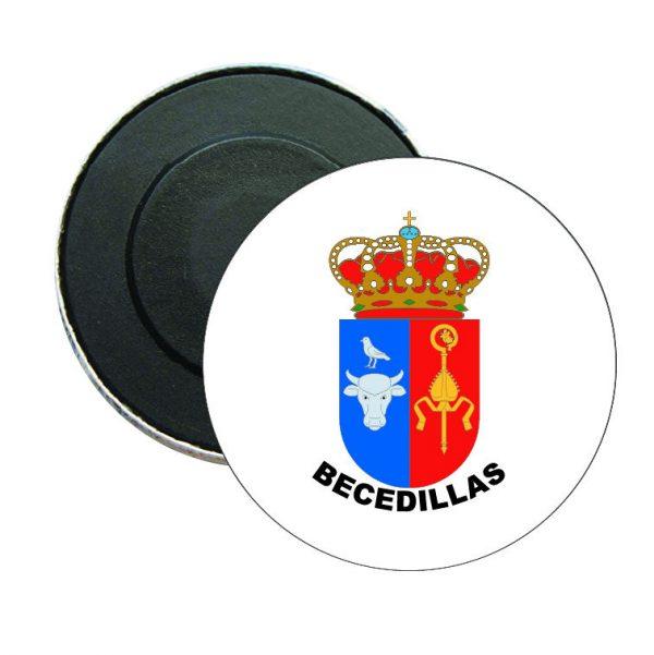 iman redondo escudo heraldico becedillas