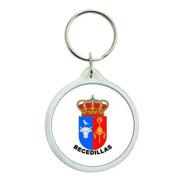 llavero redondo escudo heraldico becedillas
