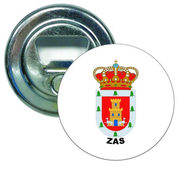 abridor redondo escudo heraldico zas