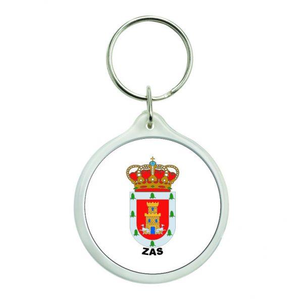 llavero redondo escudo heraldico zas