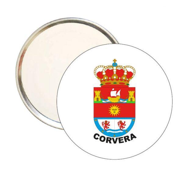 espejo redondo escudo heraldico corvera