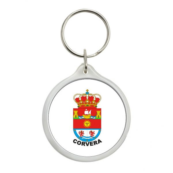 llavero redondo escudo heraldico corvera