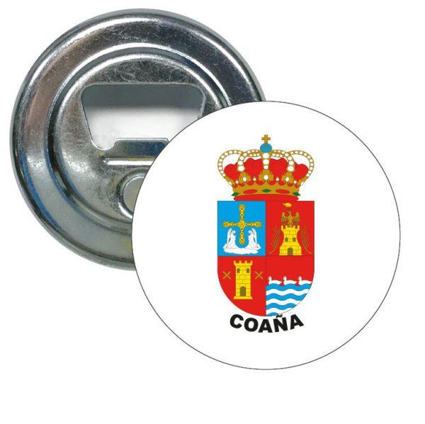 abridor redondo escudo heraldico coana
