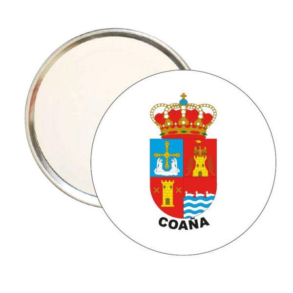 espejo redondo escudo heraldico coana