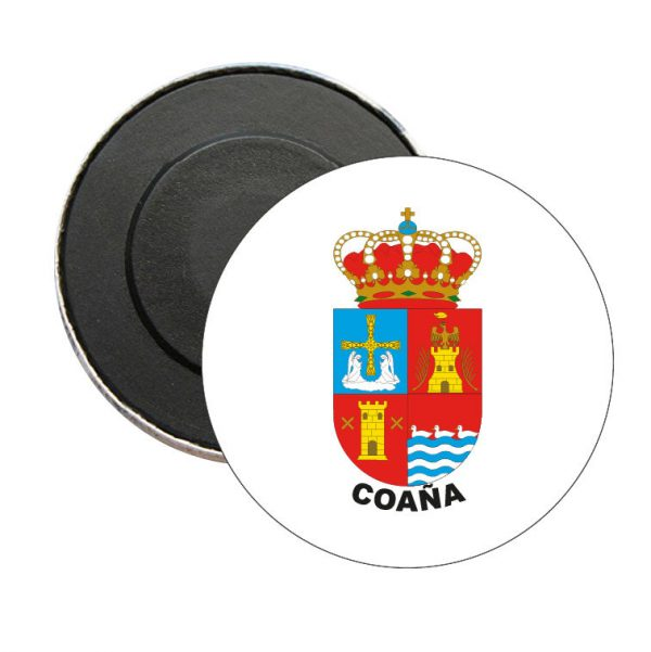 iman redondo escudo heraldico coana