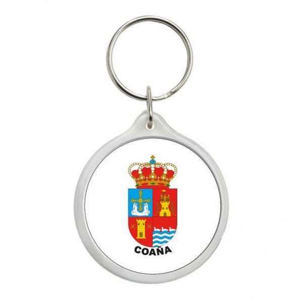 llavero redondo escudo heraldico coana