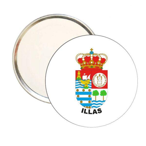 espejo redondo escudo heraldico illas