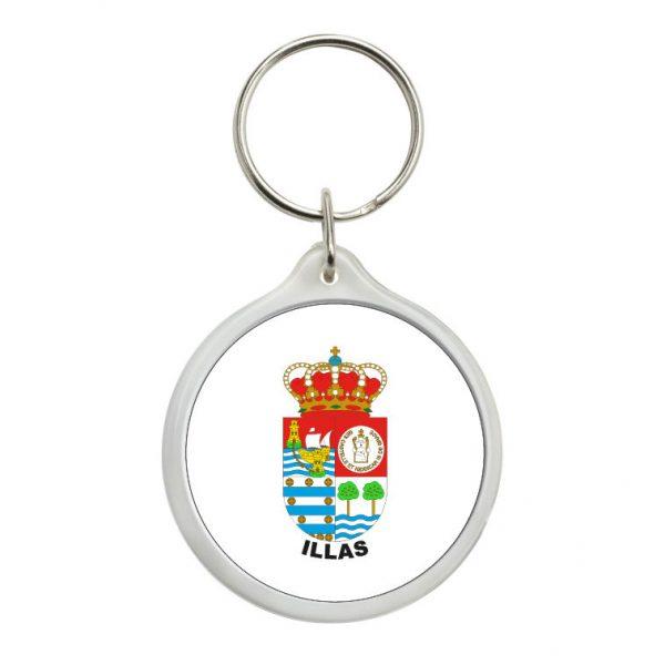 llavero redondo escudo heraldico illas